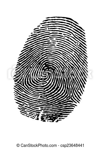 empreinte doigt - csp23648441
