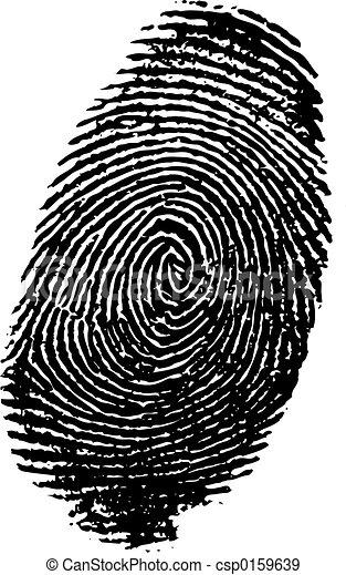 empreinte doigt - csp0159639