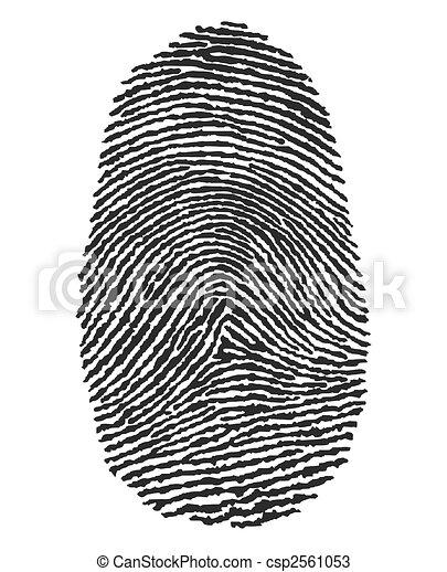 empreinte doigt - csp2561053
