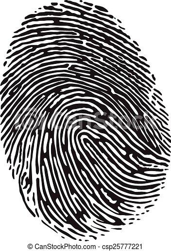 empreinte doigt - csp25777221