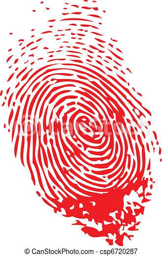 empreinte doigt - csp6720287