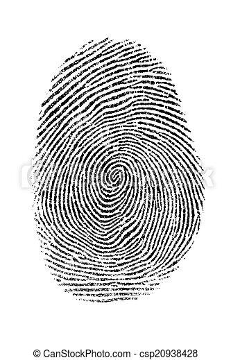 empreinte doigt - csp20938428