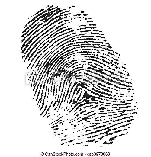empreinte doigt - csp0973663