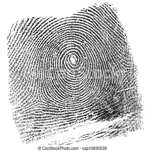 empreinte doigt - csp10630539