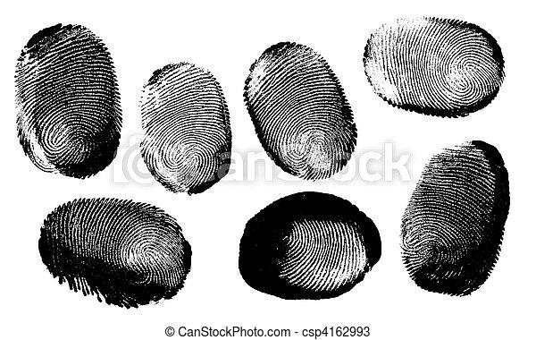 empreinte doigt - csp4162993