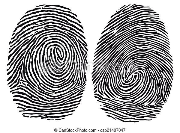 empreinte doigt - csp21407047
