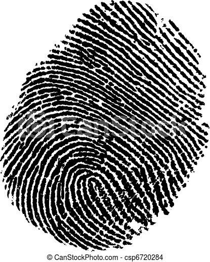 empreinte doigt - csp6720284