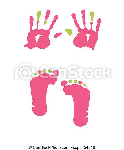 empreinte, handprint - csp5454019