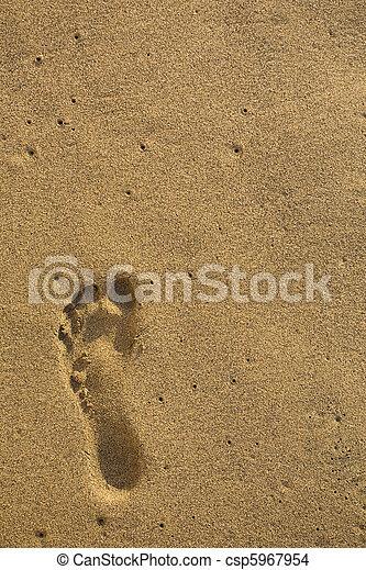 empreinte, sable - csp5967954