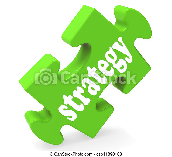 Estrategia que muestra soluciones empresariales o objetivos - csp11890103