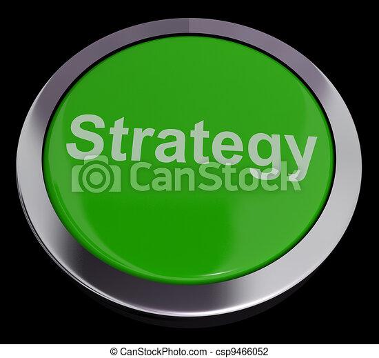Botón de estrategia para soluciones de negocios o objetivos - csp9466052