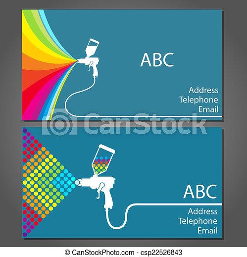 Tarjeta de negocios para pintor - csp22526843