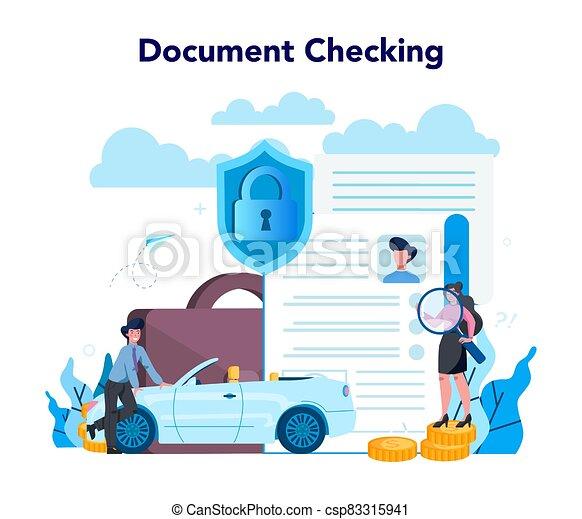 empresa / negocio, caso, pago, seguro, underwriter, concept., financiero - csp83315941