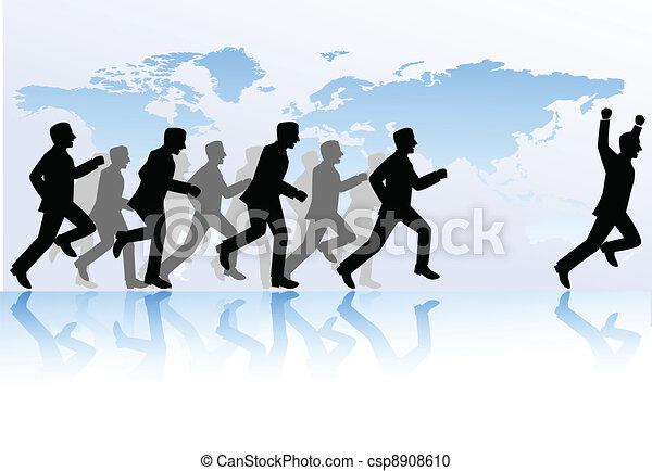La competencia de la gente de negocios - csp8908610