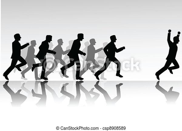 La competencia de la gente de negocios - csp8908589