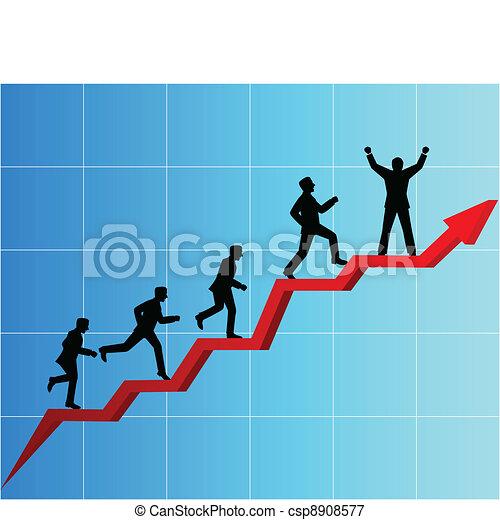 La competencia de la gente de negocios - csp8908577