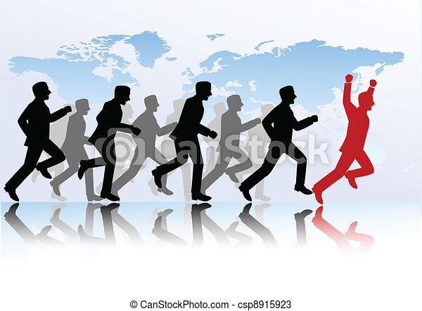 La gente de negocios compite - csp8915923