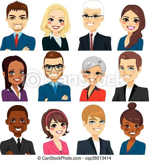 Gente de negocios avatar set colección - csp38013414