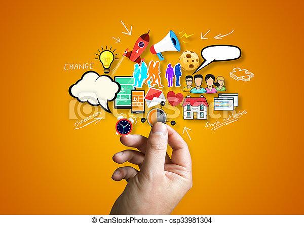 empresa / negocio, creativo - csp33981304