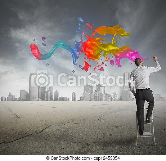 empresa / negocio, creativo - csp12453054