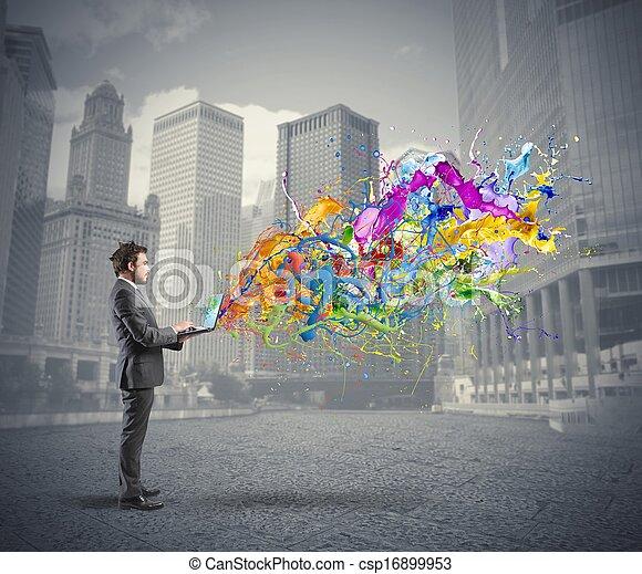 empresa / negocio, creativo - csp16899953