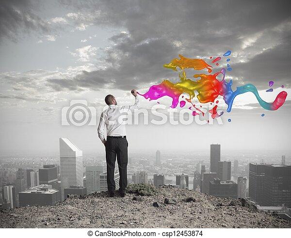 empresa / negocio, creativo - csp12453874