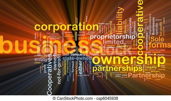 El concepto de fondo empresarial brilla - csp6045938
