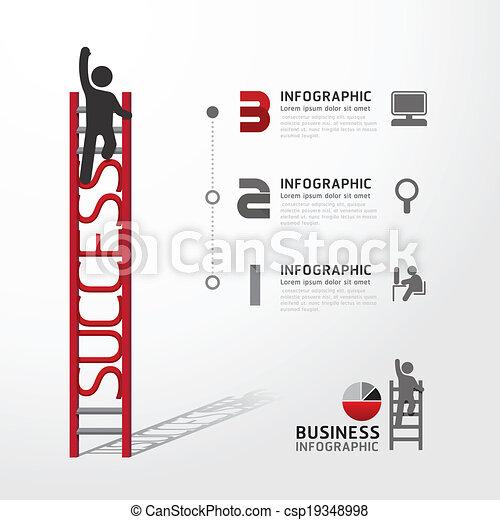 El concepto de escalada infoográfica de negocios. Ilustración de vectores - csp19348998