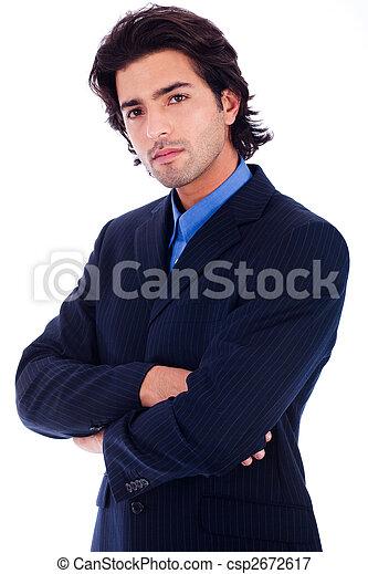 Un buen hombre de negocios con traje medio lenteja - csp2672617