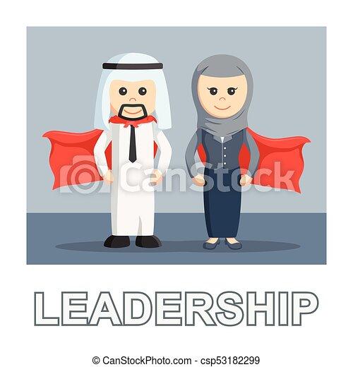 Mensaje fotográfico de liderazgo de negocios árabe - csp53182299