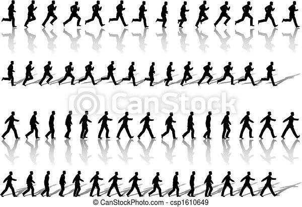 Los circuitos de secuencia de hombres de negocios corren y la energía camina - csp1610649