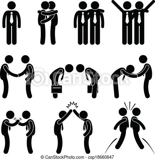 empresa / negocio, manera, gesto, saludos - csp18660647