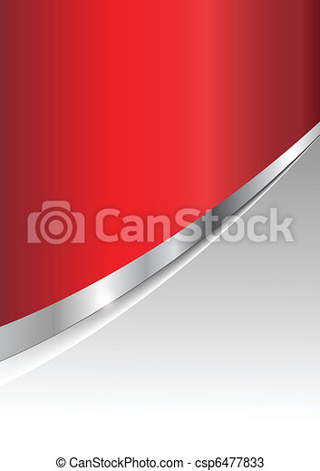 Negocios de fondo plateados y rojos - csp6477833