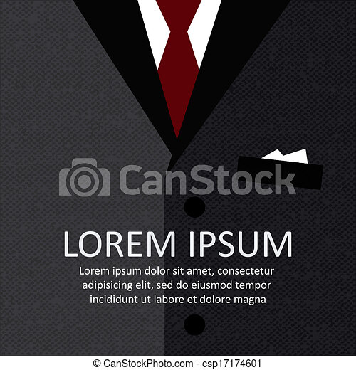 Antecedentes de traje de negocios - csp17174601