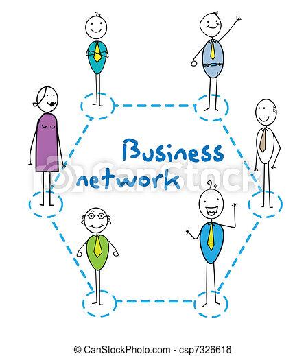 Red de negocios - csp7326618