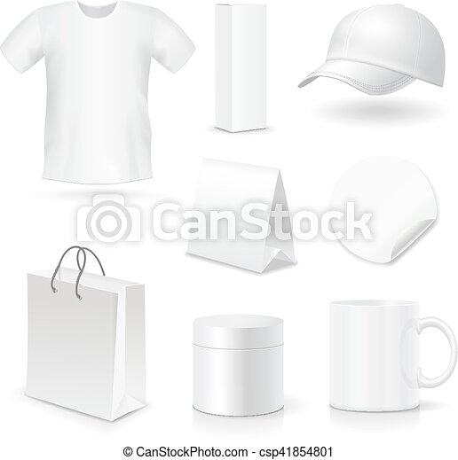 Plantas de identidad empresarial en blanco, regalos - csp41854801