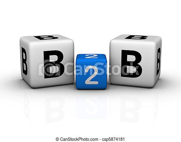 Negocios a negocios - csp5874181