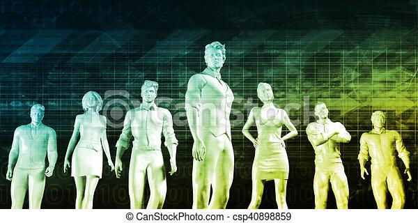 Visión de negocios - csp40898859