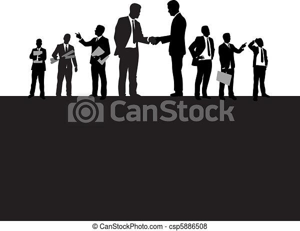 Gente de negocios - csp5886508