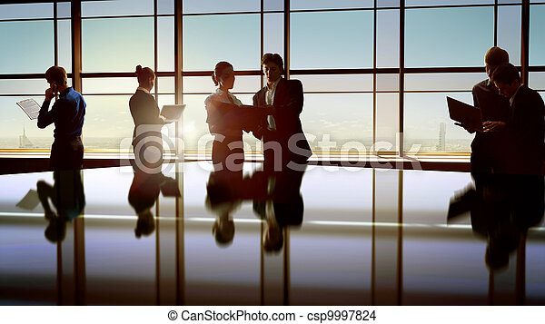 Gente de negocios - csp9997824