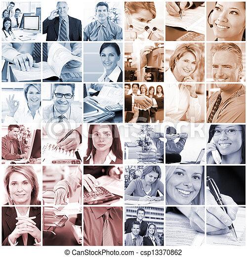 Gente de negocios - csp13370862