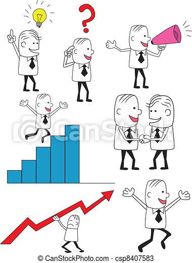 Gente de negocios - csp8407583