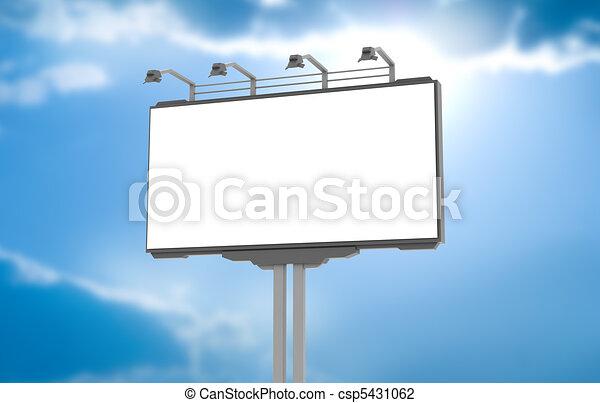 Empty advertisement hoarding - csp5431062