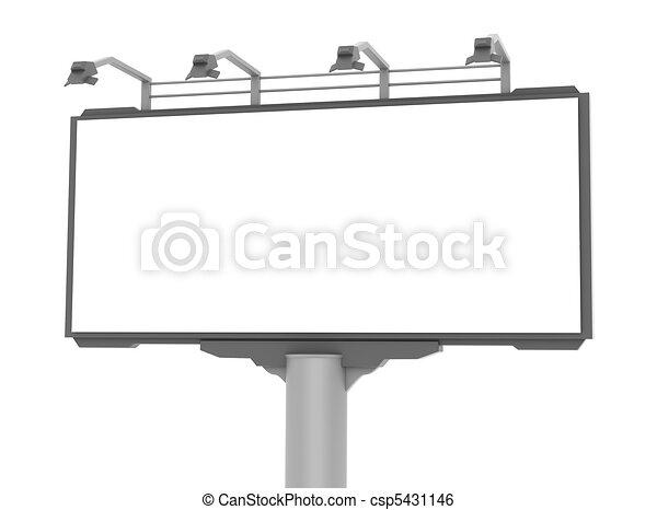 Empty advertisement hoarding - csp5431146