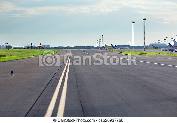 Empty airport road - csp28937768