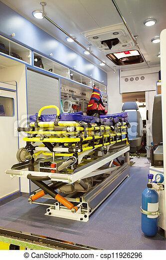 empty ambulance car - csp11926296