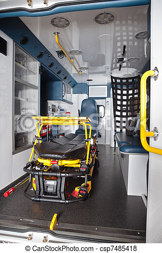 Empty Ambulance Interior - csp7485418