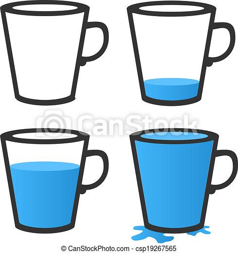 empty and full mug vector illustration empty and full mug vector