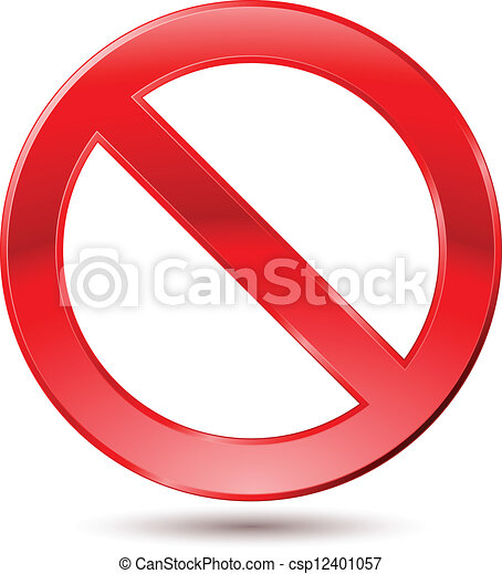 Empty Ban Sign - csp12401057