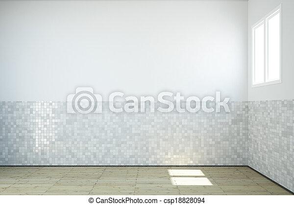 Empty bathroom - csp18828094